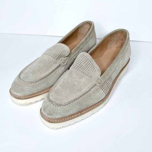 nwt ron white cashmere suede wazzy driving loafer